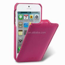 Premium Leather Case for Apple iPhone 5/5S/5C - Jacka Type (Purple LC)