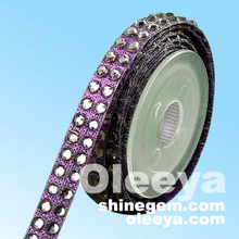 wholesales! good quality hot fix rhinestones tapes chains factory for wedding dresses
