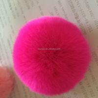 Factory direct supply rex rabbit skin fur material pompom ball