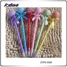 2015 New style children's color beatiful Plush Lollipop bowknot pen