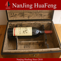 factory direct sale luxury custom 2 bottles wooden wine carrier