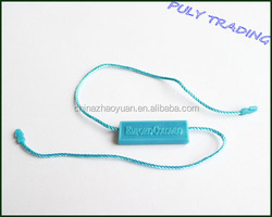 Nice blue plastic hang string seal tag for women clothing suit