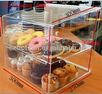 2 tiers clear acrylic bread and cake display rack