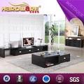 móveis para sala extensão vidro temperado design canto mesa de tv