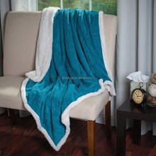 Plush Corduroy Sherpa Throw Blanket