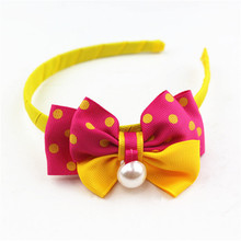 custom colorful splice metal golden with acrylic hair band