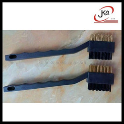 Nylon and Copper wire bristle Golf clubs cleaning brush for golf bag/shoes