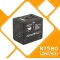2014 las ventas caliente de lujo de macho a hembra adaptador de enchufe eléctrico( nt580)