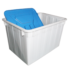 Large plastic crate for garment factory