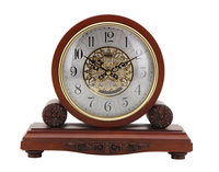 Modern Design Quartz Solid Wood Table Clock Wooden Desk clock for Home Decor for Gift JHF15-8128A