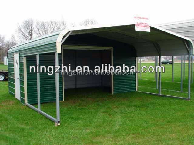 Metal steel carport garage car shelter shade Carport with storage room