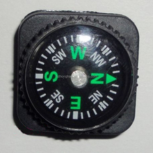 Outdoor sports compass with watch band wrist,black plastic compass
