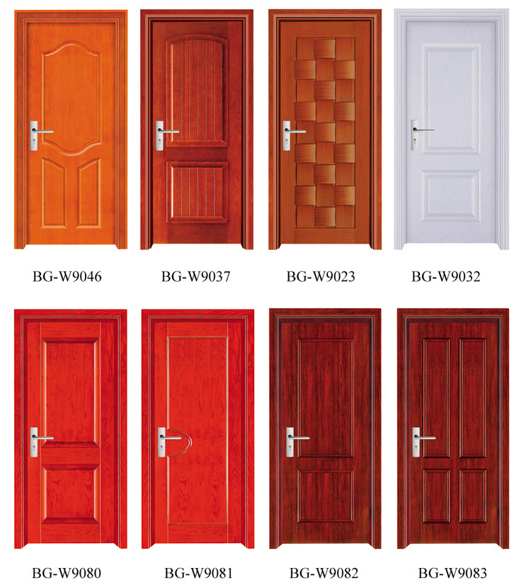 Bg w9045 wooden main door design new design wooden door for Modern single door designs for houses