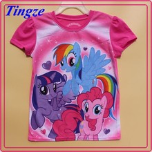 Latest china supplier tshirt 2015 new arrival printing t-shirt boy My little pony shirtsHZ103