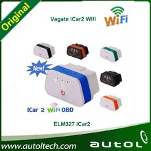 Six Colors !!! Original Vgate iCar2 WIFI ELM327 Vgate wifi OBD2/OBDII diagnostic interface for IOS iPhone iPad Android PC