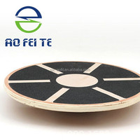 Healthcare best choice waist and ankle twist training wooden balance board, multifunction yoga wobble board