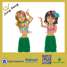 Green Luau Nonwoven Eco-Friendly Skirt For Party Crazy Dollar Tree Market Hot Sale