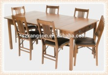 Modern solid teak wood table for dining room / restaurant/outdoor garden