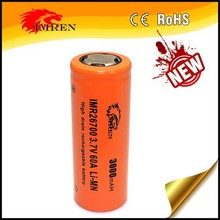 High quality and durable battery IMREN 26700 3500mAh 3.7V 60A IMREN 26700 3500mAh high drain rechargeable battery with flat top