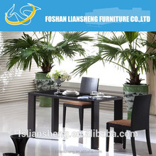 illuminated high glossy banquet rectangle buffet table and chair