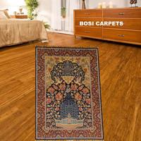 2x3ft Traditional prayer eary rug silk carpet handmade technology