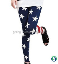USA Flag Stripe Space Star Print Leggings fashionable leggings