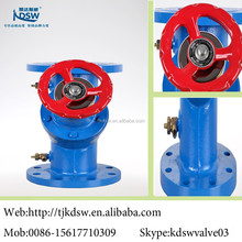 hand operated globe valve with warm gear