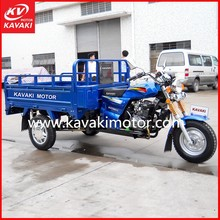 2015 Chinese 150cc Three Wheel Motorcycle New Hot Sale Blue Electric Start Adult Tricycle
