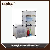 clothes storage plastic clothes cabinet made in China