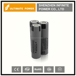Hot sale!!! Authentic 3200mah 3.7v ncr18650bd panasonic rechargeable Li-ion battery with 10A discharge