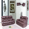 Luxury nitaly leather recliner sofa,wine red colour leather sofa,electric recliner,leather sofa recliner