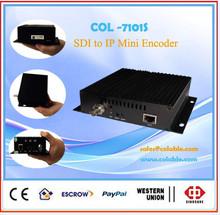 The smart mini sdi to ip encoder, hd sdi h.264 encoder iptv single channel COL7101S