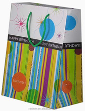 Cheap Birthday package decorative paper bag manufacturer