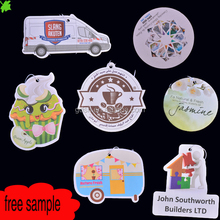 customized hanging car air freshener with long-lasting strong smell