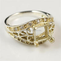 Men Lady Gold Most Popular Titanium Ring Without Stone Middel Jewelry Ring Model