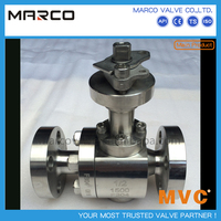 Best selling flanged end carbon and stainless steel fb full port,full bore two 2pc ball valve