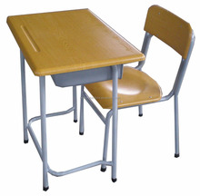 Kosa school furniture double or single student desk and chair moulded panel Werzalit table and chair