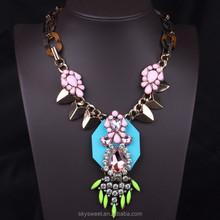 fashion retro diamond leopard chain necklace(SWTPR553)