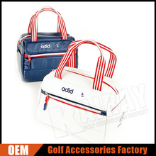 Factory price leather duffle bags small golf boston bag