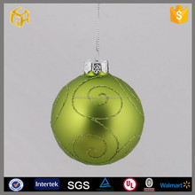 Hand-painted glass christmas balls, clear glass craft ball ornaments
