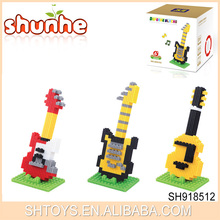 431 Pcs Newest Eductional Toys Smallest DIY Nano Guitar Block In China