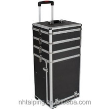 2015 Black Aluminum Girls Trolley Case Royal Polo Laggage Trolley Case With Jewelry