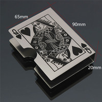 Metal Playing Card Clip Deck Protector Pack Box Case Trick Magic Predict