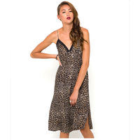 Leopard Mini Dress Sexy Slip Dress