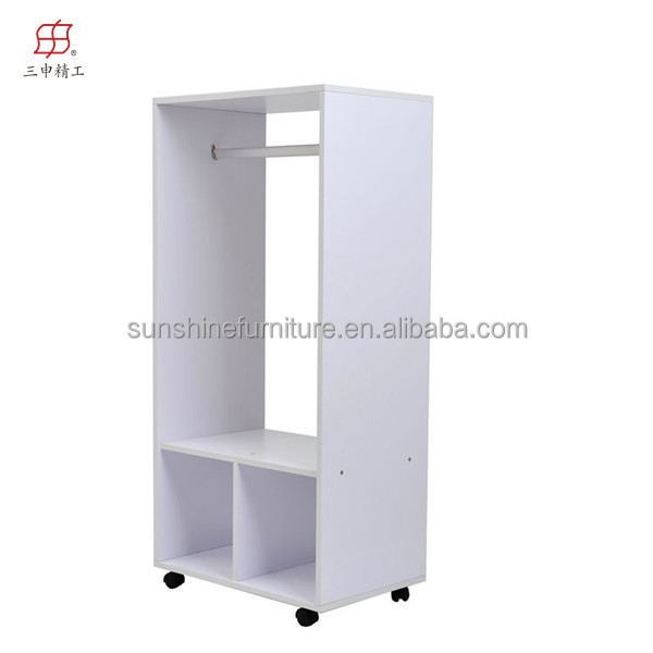cheap modern wood llightweight portable armoire wardrobe. Black Bedroom Furniture Sets. Home Design Ideas