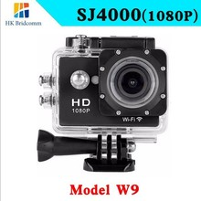 Hot !!! SJ4000 W9 WIFI mini Sport DV 1080P HD Camera Extreme Action Camera Diving 30M Waterproof go pro SJCAM style