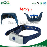 Hot ! dog training collar in blue and white for Pet BC-001
