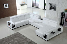 White Sectional Corner Sofa For Living Room With Mid Table