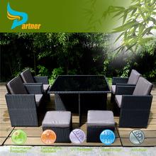 9pcs PE Wicker Cube Set 2015 New Garden Furniture Cheap Rattan Dining Set Outdoor Furniture