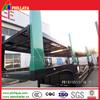 heavy duty 2 axle car transport semi truck trailer with car transport hydraulic lift platform